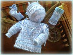 En lana, perlé y angora para bebé: Modelo 25