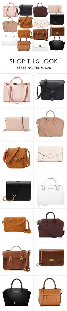 """v"" by ulu-ulu-ulu on Polyvore featuring мода, Corto Moltedo, Givenchy, GUESS, Mulberry, Michael Kors, Nu-G, The Cambridge Satchel Company, MICHAEL Michael Kors и Barbara Bui"