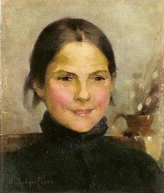 Portrait by Helene Sofia Shcjerfbeck, Finnish painter, 1862-1946
