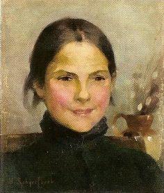 Portrait by Helene Sofia Shcjerfbeck, Finnish painter, 1862-1946