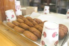 Apple Cider Donuts from the Vermont Building at The Big E.