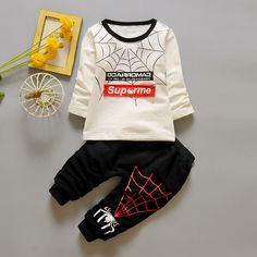 >> Click to Buy << Baby's Clothing Set Sweatshirts + Pants 9 to 24M Spider Soft Cotton Spring Autumn Boys Girls Sportswear Baby's Clothing #Affiliate
