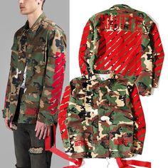 Fashion brand men kanye west Off White Virgil Abloh jackets camouflage - The Big Boy Store