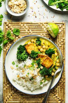 vegan tofu korma close up