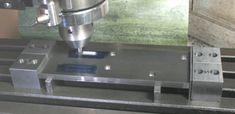 Low profile milling table workpiece clamps Metal Working Machines, Metal Working Tools, Milling Machine, Machine Tools, Milling Table, Metal Lathe Tools, Maker Shop, Homemade Tools, Metal Projects