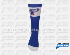 Socks designed by My Custom Socks for Pascagoula QB Club in Pascagoula, Mississippi. Basketball socks made with Coolmax fabric. #Basketball custom socks - free quote! ////// Calcetas diseñadas por My Customs Socks para Pascagoula QB Club in Pascagoula, Mississippi. Calcetas para Baloncesto hechas con tela Coolmax. #Baloncesto calcetas personalizadas - cotización gratis! www.mycustomsocks.com