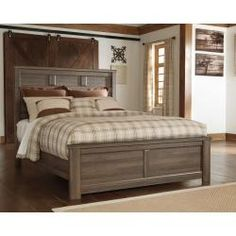 B251B6 in by Ashley Furniture in Waterloo, ON - Juararo - Dark Brown 3 Piece Bed Set (Queen)