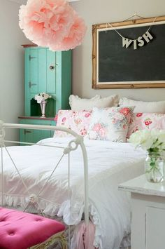 50 Cute Pink Kids Bedroom Design Ideas In Shabby Chic Style #girlsshabbychicbathrooms