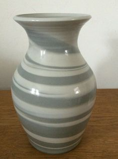 A lovely grey swirl Vase by POG in a matt finish. smaller vase available on my listings. Porcelain, Vase, Grey, Gray, Porcelain Ceramics, Vases, Tableware, Jars