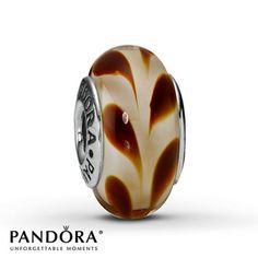 Pandora Brown Swirl Glass Charm