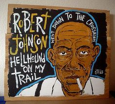 Blues folk art by Grego Anderson - www.mojohand.com #robertjohnson #deltablues #blues