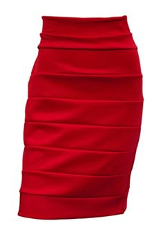 eVogues Plus size Bandage Pull On Pencil Skirt Red  2X *** To view further for this item, visit the image link.