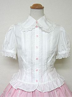 Flower Buttons Blouse  (Angelic Pretty)