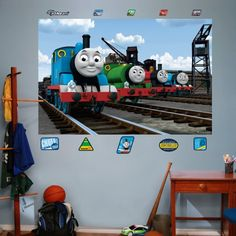 FATHEAD Thomas and Friends: Group Mural Graphic Wall Décor -- Read more  at the image link.