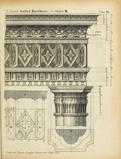 Design for a Gothick Entablature and Order
