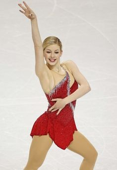 Gracie Gold, Ashley Wagner and Polina Edmunds of the USA ...