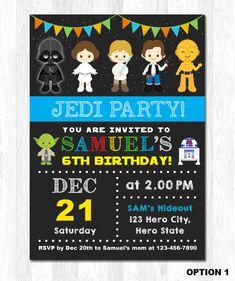 Star Wars Invitation Photo Force Awaken