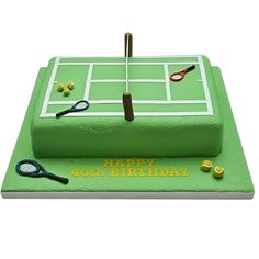 Tennis Court Birthday Cake  Crazy of tennis? He would surely love this tennis inspired cake for his birthday! Order online now!