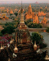 """Bagan Sunrise"" from Dhammayazaka Zedi, Bagan, Myanmar (Burma): photo by Kenneth Parker"