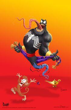 Venom Genie mash up - GENOM by darrinbrege on DeviantArt Venom Film, Venom Movie, Dope Cartoon Art, Dope Cartoons, Marvel Dc Movies, Marvel Art, Cartoon Crossovers, Cartoon Movies, Cosplay Itachi