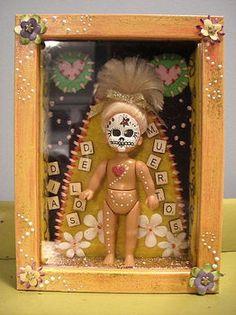 Dia de los Muertos shrine. . . I want to make this and add to my shrine.