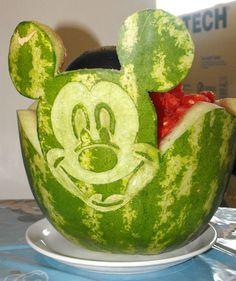 Mickey watermelon bowl