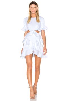 FAME AND PARTNERS X REVOLVE Xavier Mini Dress in White | REVOLVE