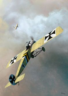 Fokker Eindecker E.II -This image was created as cover art for a book entitled 'Fokker Eindecker Compendium 2', written by Josef Scott. The book is a 'Windsock Datafile' published by Albatros Productions