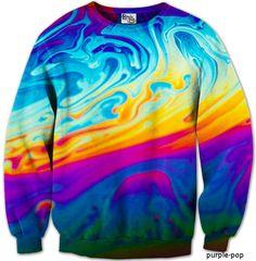 Psychadelic Swirl Jumper #psychadelic #jumper #purplepop #skate