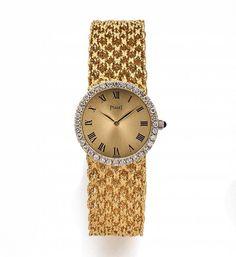 PIAGET N° 166414, ref. 926 N 38, vers 1969 Montre bracelet de dame en or jaune 18K (750) et di