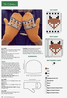 Knitted Mittens Pattern, Fingerless Gloves Crochet Pattern, Animal Knitting Patterns, Baby Sweater Knitting Pattern, Fair Isle Knitting Patterns, Knitting Stiches, Fingerless Mittens, Knit Mittens, Knitting Charts