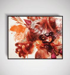 "League of Legends Panda Annie Art Print, 11"" x 14""/ 8"" x 10"" / 5"" x 7"""