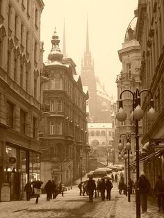 Snowy Day, Brno, Czech Republic photo by aeustin