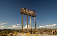 Nothing AZ cool sign the town no longer exists.