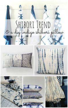 From LIZ MARIE: Do it yourself indigo shibori pillow #DIY #getcreative #adelinecrafts