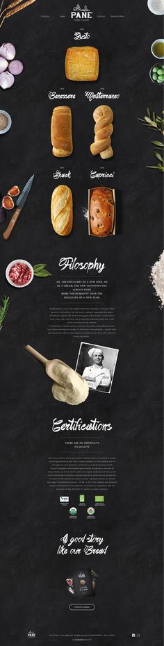 Pane. Grabbing your five senses. #webdesign #bakery #design: