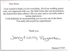 wedding thank you notes wording google search