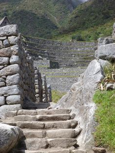 Inca steps (Machu Picchu, Peru). Ancient Ruins, Ancient History, Inca Empire, South Of The Border, Peru Travel, Stone Walls, Archaeological Site, Machu Picchu, Staircases