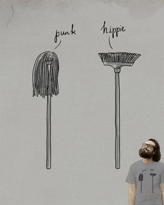 Punk & Hippie by ilovedoodle on Threadless
