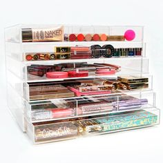 Shop CosmoCube's Original Makeup Organizer at Sephora. This clear acrylic makeup organizer has interchangeable dividers to store your makeup essentials.