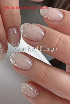 Akari Nageldesign Foto Gel Nagellack Akari Design Gelnagellack N. Akari Nageldesign Foto Gel Nagellack Akari Design Gelnagellack N # Simple Wedding Nails, Wedding Nails Design, Wedding Nails For Bride, Wedding Gel Nails, Winter Wedding Nails, Nail Art Weddings, Bridal Nail Design, Beach Wedding Nails, Summer Wedding Makeup