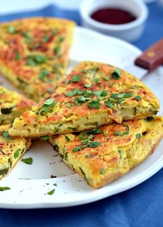 Vegan Persian Frittata   |     Organize and save your favourite recipes OFFLINE on your iPhone or iPad with @RecipeTin! Find out more here: www.recipetinapp.com      #recipes #vegan