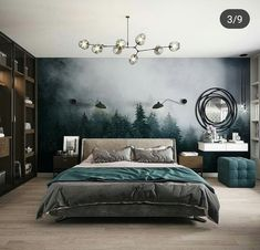 Home Bedroom, Modern Bedroom, Bedroom Decor, Bedroom Design Inspiration, Room Inspiration, Home Room Design, Home Interior Design, Apartment Interior, Luxurious Bedrooms