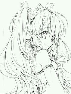 Anime Character Drawing, Manga Drawing, Manga Art, Character Art, Anime Drawings Sketches, Anime Sketch, Cute Drawings, Lineart Anime, Image Manga