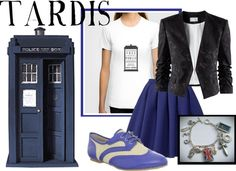 """""""TARDIS"""" by companionclothes ❤ liked on Polyvore"""