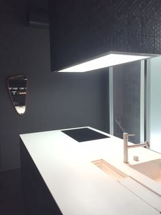 Boffi kitchens in Milan.  Mixing very dark with bright white. Simple, modern and clean. Enquire through Carly at NW3 Interiors Ltd www.nw3interiorsltd.com 07773383530