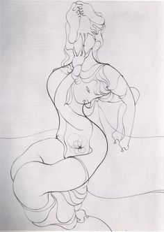 Sketch by Hans Bellmer for L'Anatomie de l'Image (Anatomy of the Image)