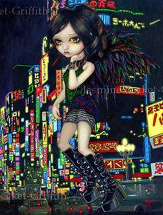 Gothic Big Eye Japan Urban Fairy Art:  Shinjuku Angel by Jasmine Becket-Griffith