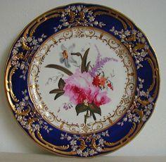 Antique Coalport Porcelain Plate painted by Thomas Brentnall C1820