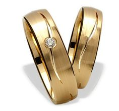 05156e13c270a7 Złote obrączki z diamentami/ Wedding rings made from yellow gold with  diamonds/ 2 248 PLN